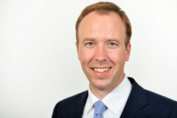 A photo of Matt Hancock, Secretary of State for Health and Social Care