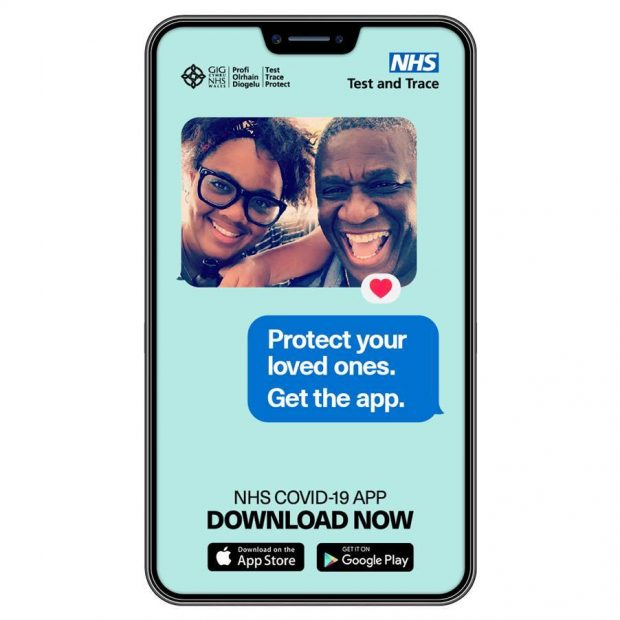 A photo cover of the NHS COVID-19 app