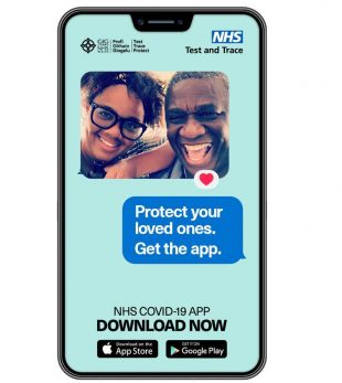 A photo of the NHS COVID-19 app